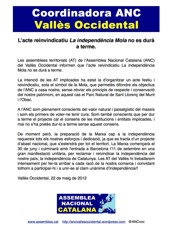 La independència Mola no es farà