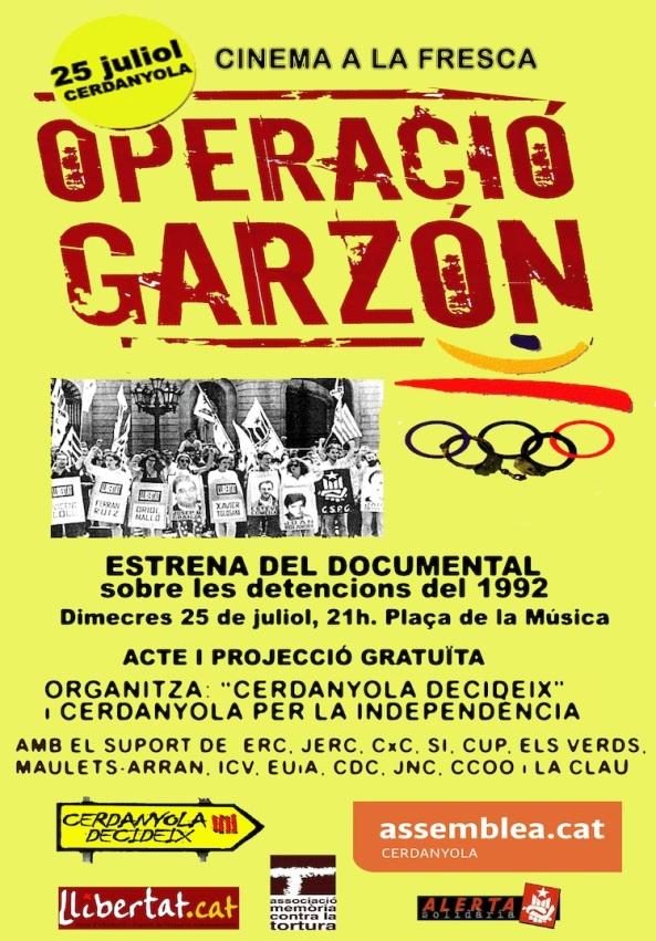Cartell Operació Garzón
