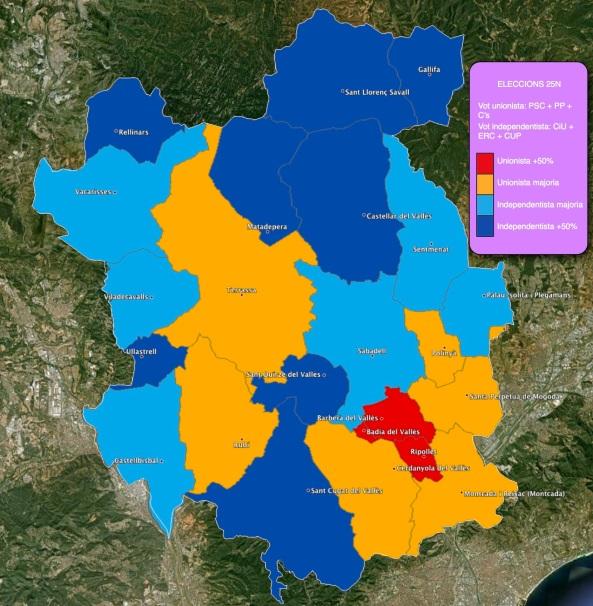 Mapa eleccions 25 Novembre