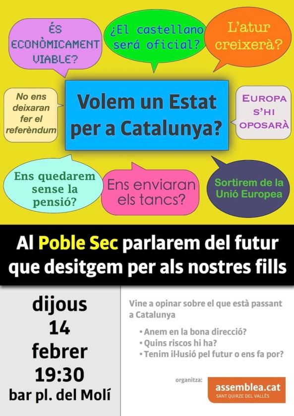 Cartell 14 febrer 2013 Poble Sec