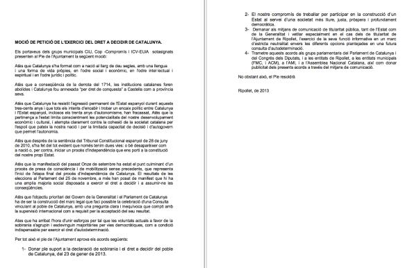 Ripollet suport Declaració Sobirania