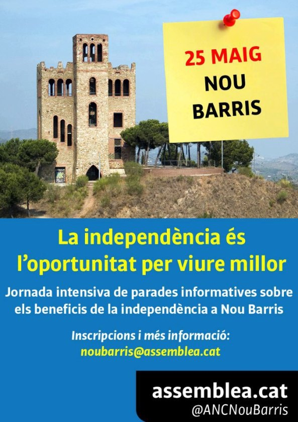 Cartell Jornada intensiva parades informatives Nou Barris
