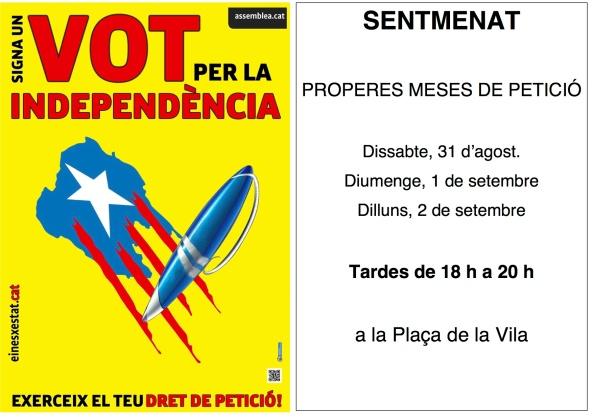 cartell signa un vot amb calendari setembre