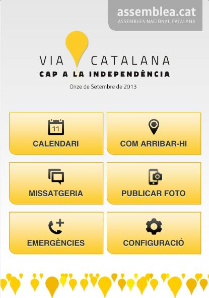 Imatge aplicació via catalana