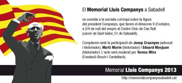 2013 Memorial Lluis Companys_Conferencia_targeto