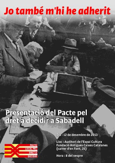 Pacte local pel dret a decidir a Sabadell