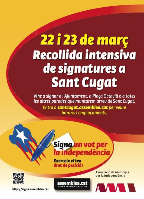 Signa un vot a Sant Cugat 22 i 23 de març (1 página)