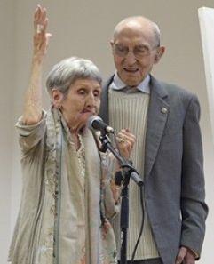 Ella i en Suriguera a l'homenatge de Ca n'Aurell. (Foto: P. Moya, La Torre)