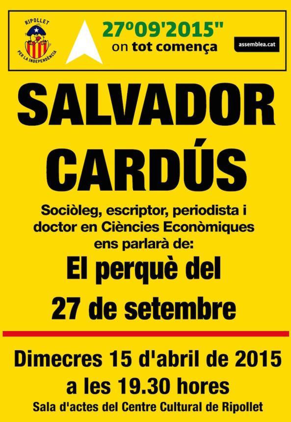 cartell SALVADOR CARDUS