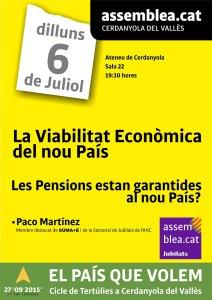 Viabilitat Economica del nou Pais (06-07 Pensions)