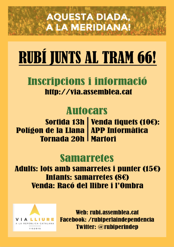 Rubí Junts Al Tram 66