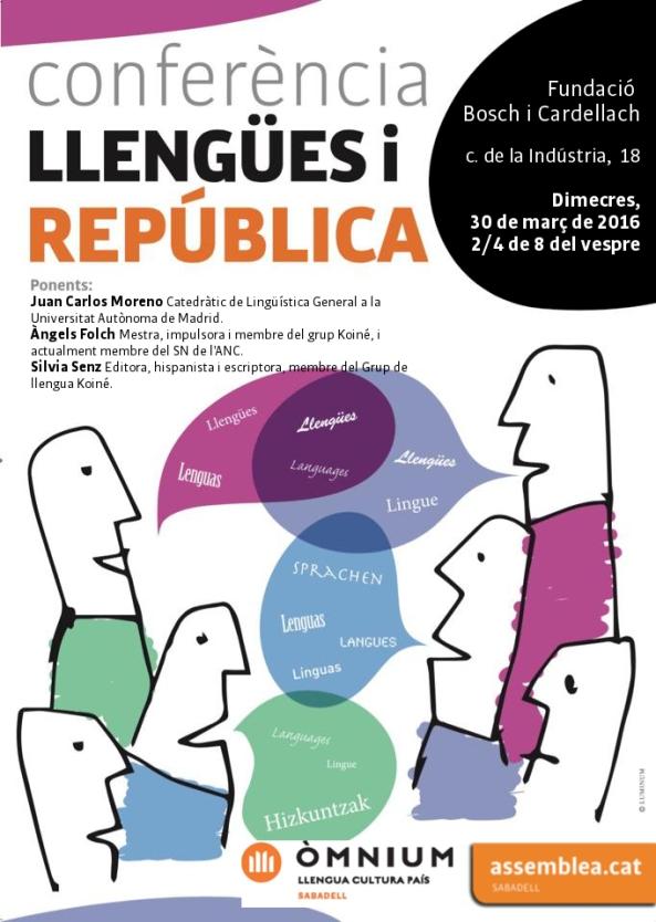 30_03_2016 Llengües i república_Cartell