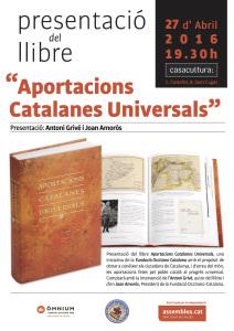 20160427 Aportacions Catalanes Universals