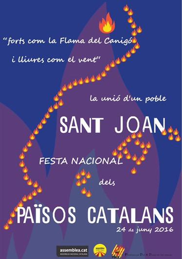Resultat d'imatges de cartell de Sant Joan 2017 de part de la Confederació d'Entitats Sobiranistes dels Països Catalans