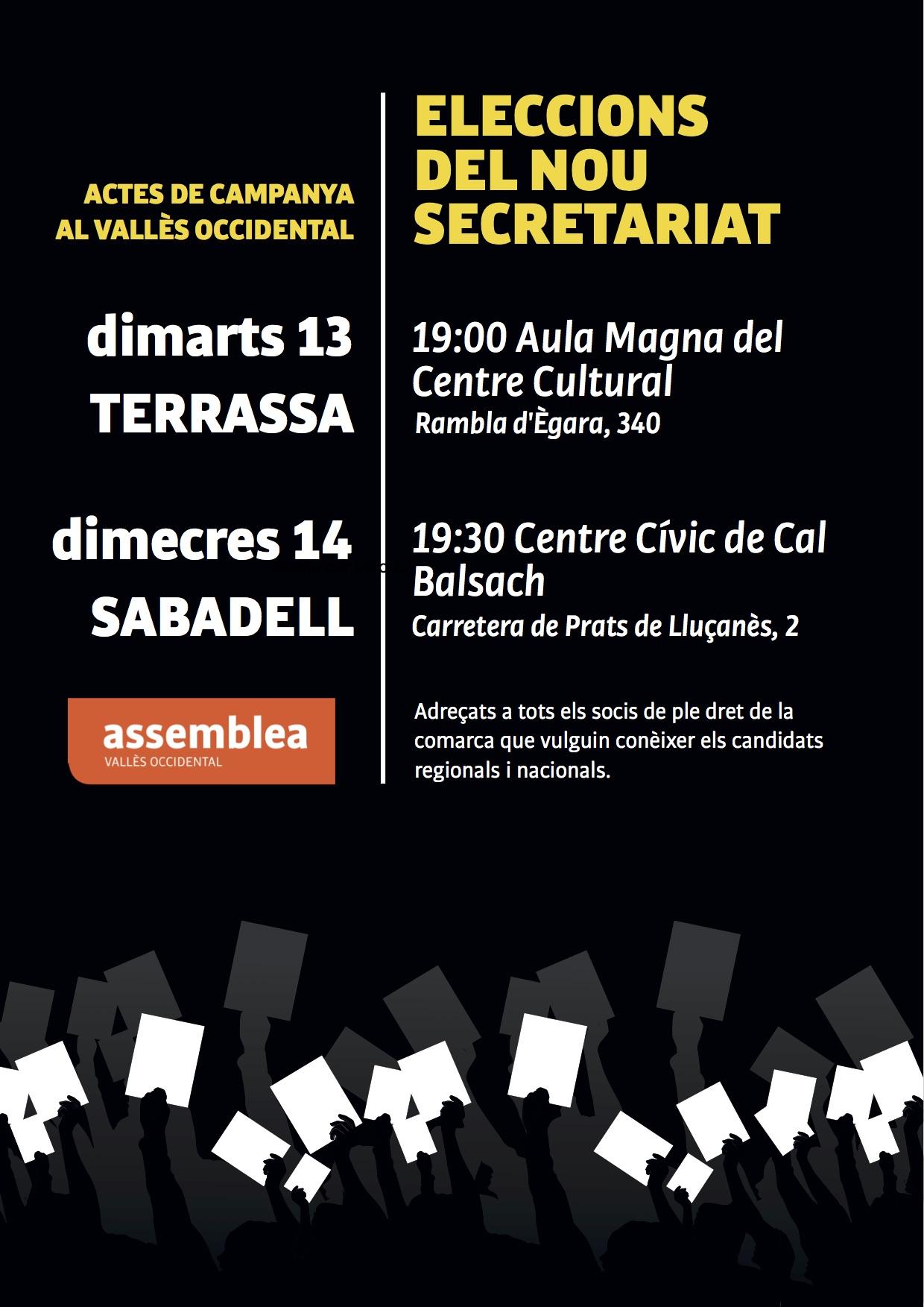Actes electorals comarca eleccions SN 2018